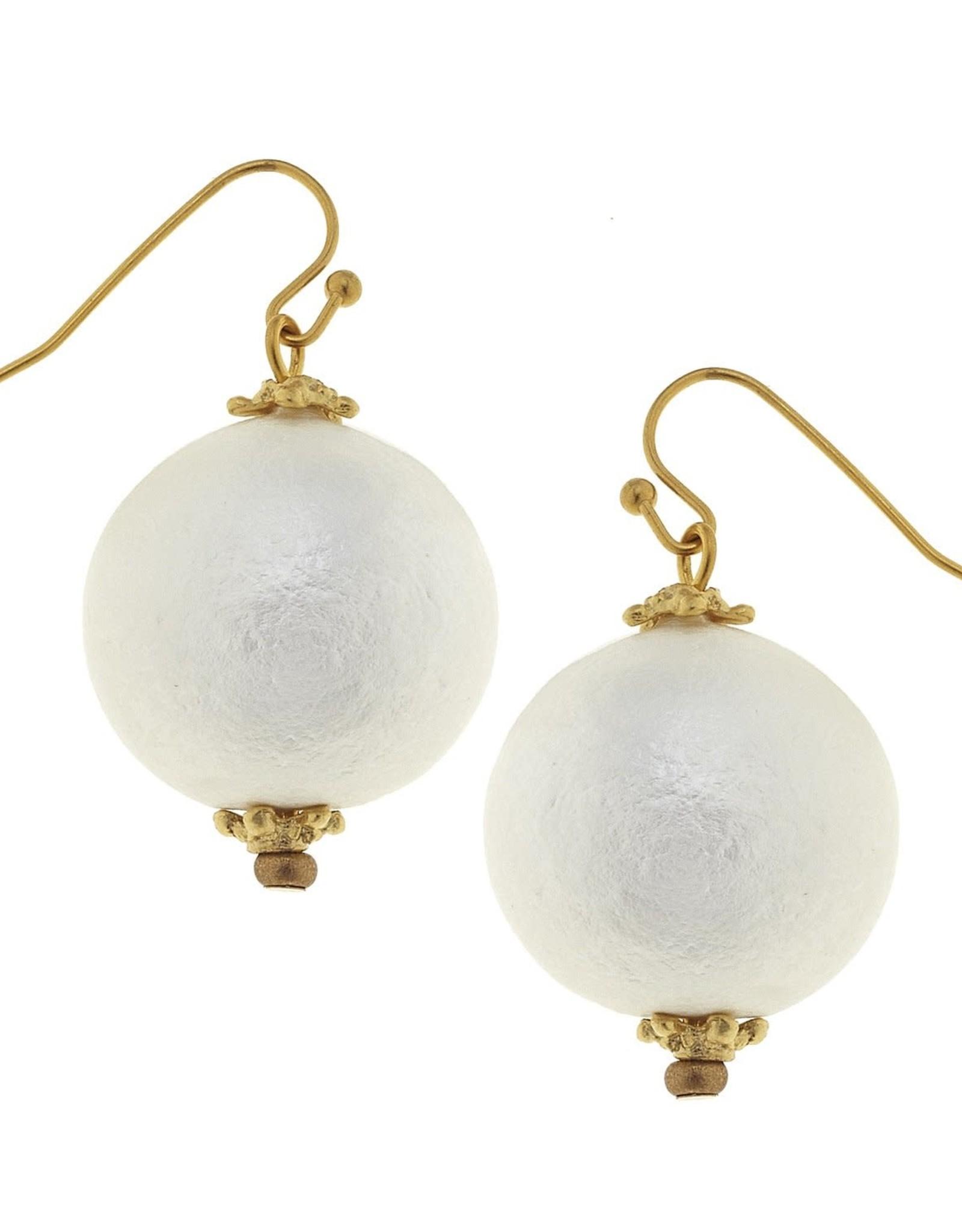 Susan Shaw Single Cotton Pearl Earring