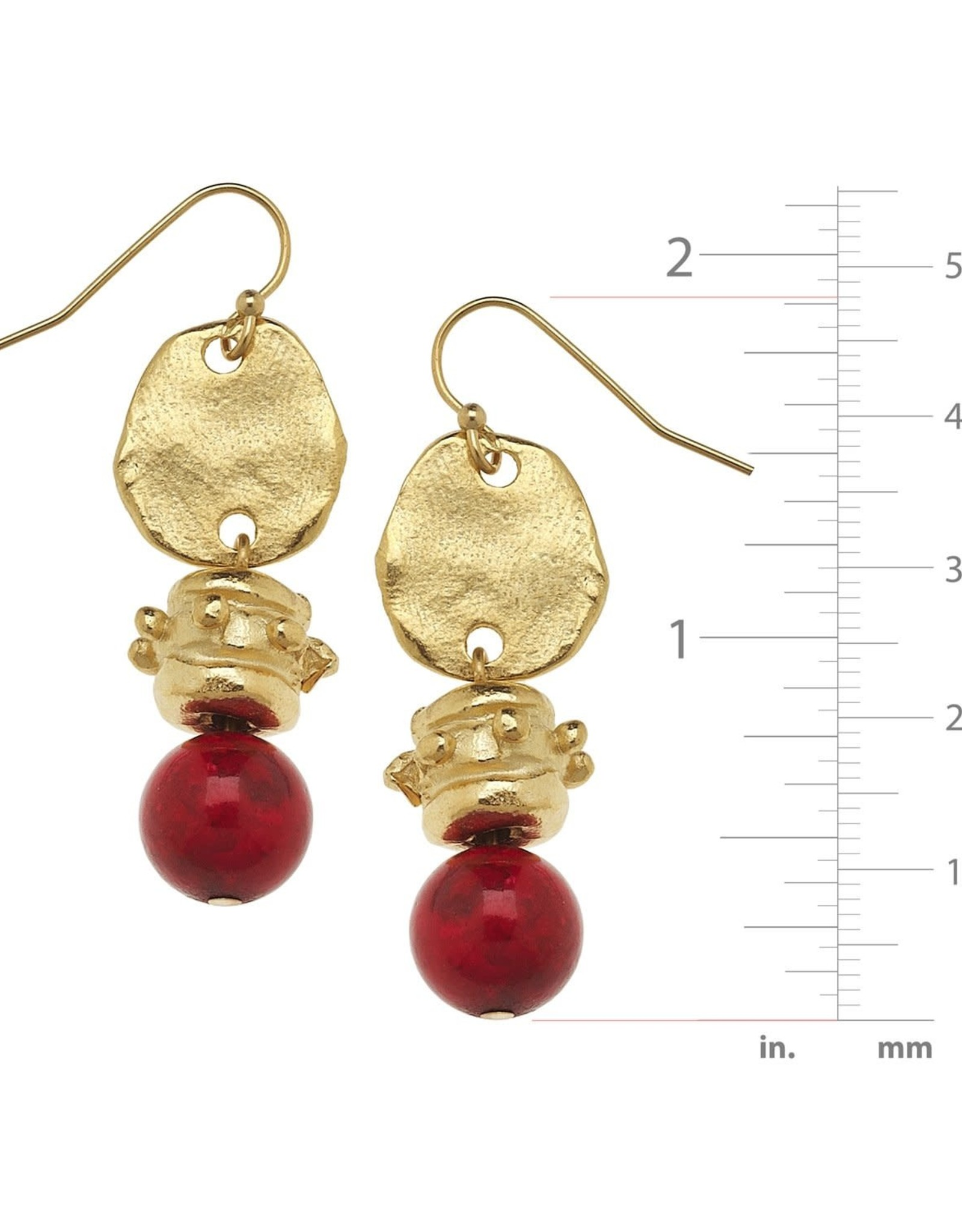 Susan Shaw Coral Bead Earring