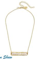 Susan Shaw Gold Bar Necklace