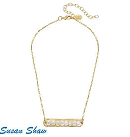 Susan Shaw Gold Bar Necklace