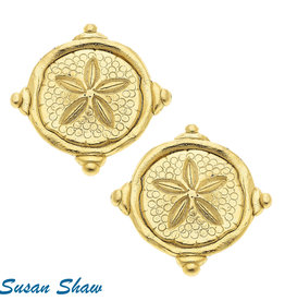 Susan Shaw Sand Dollar Earrings