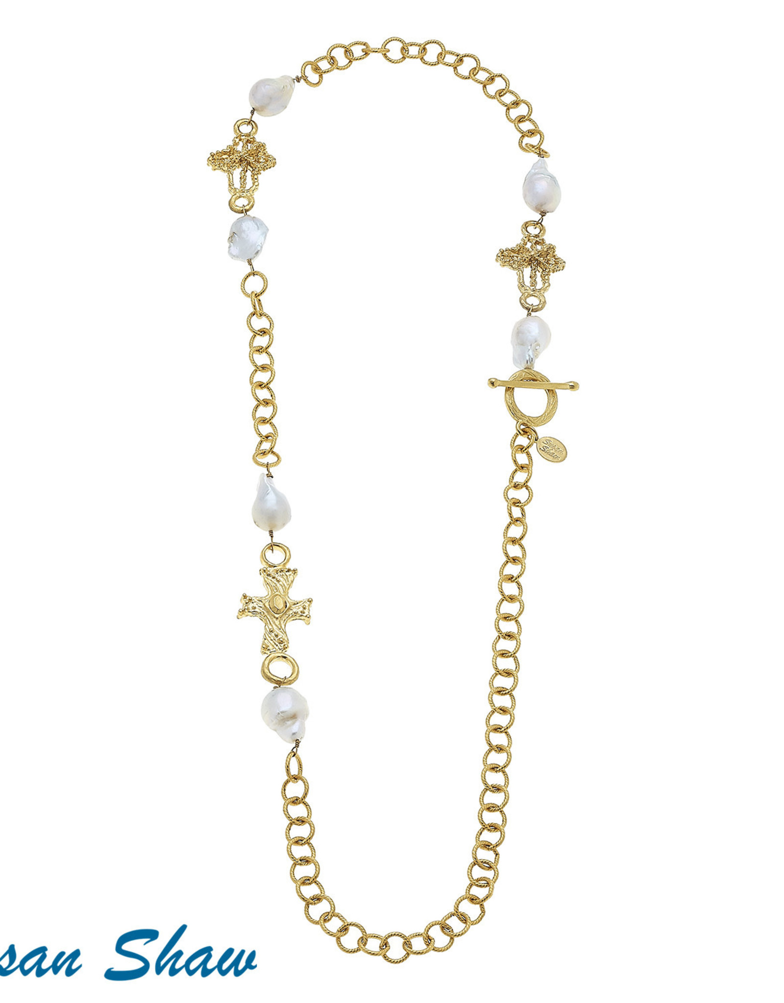 Susan Shaw Baroque Cross Necklace