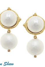 Susan Shaw Cotton Pearl Drop Earring