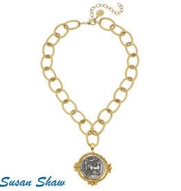 Susan Shaw Roman Chariot Necklace