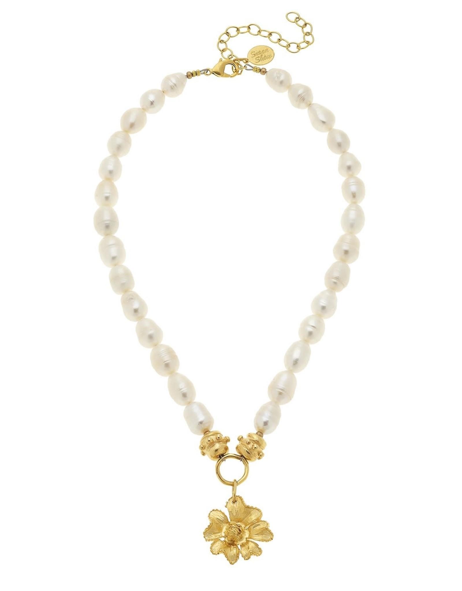 Susan Shaw Primrose Pearl  Necklace