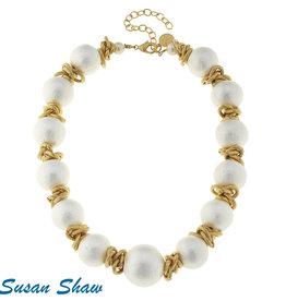 Susan Shaw Cotton Pearl Choker