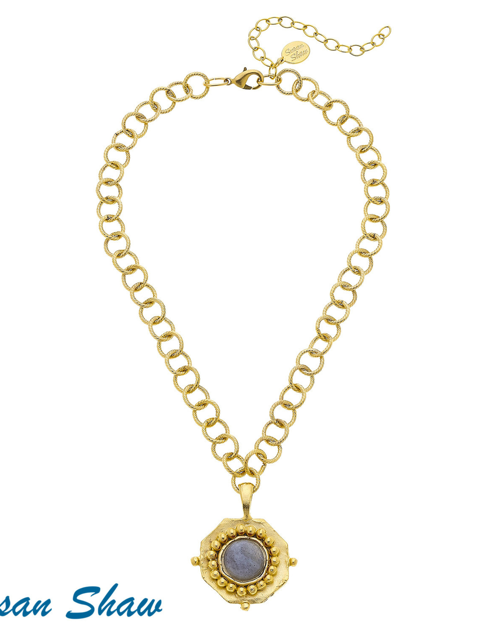Susan Shaw Gold & Labordite Necklace