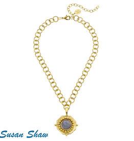 Susan Shaw Gold & Labordite Necklace