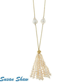 Susan Shaw Pearl Tassel Necklace