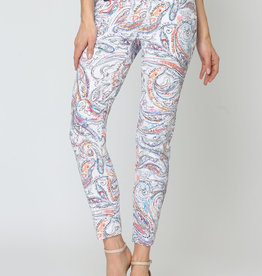 Lisette Coral Reef Jacquard Pant 28""