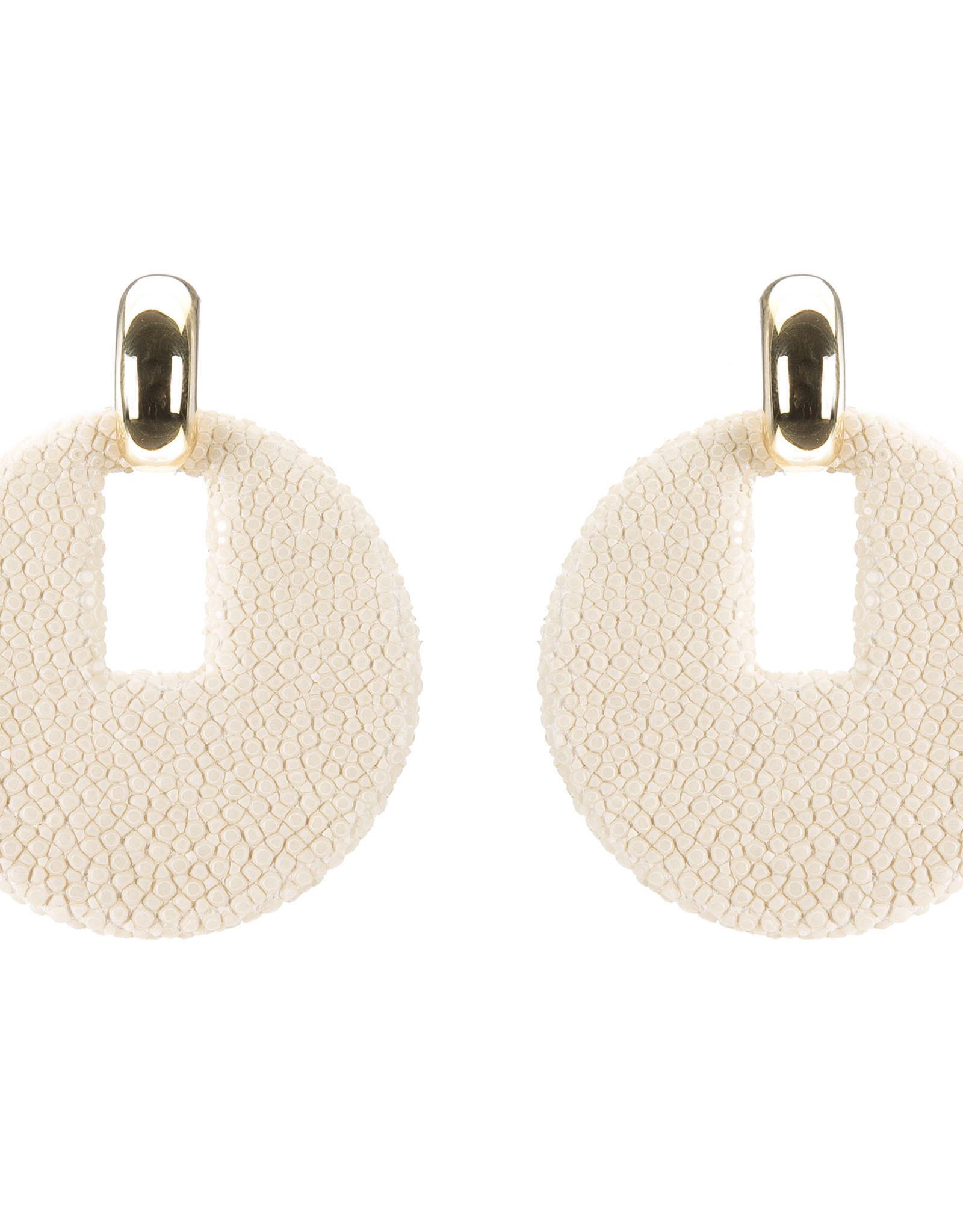 Vivo Shagreen Disk Earring