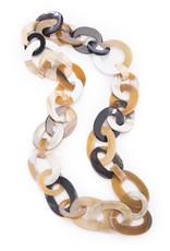 Vivo Buffalo Horn Necklace Circle Links