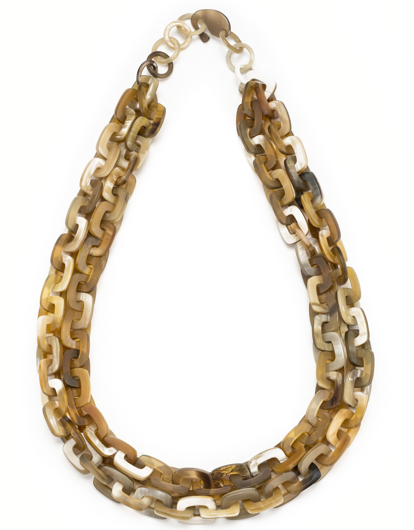 Vivo Buffalo Horn Necklace Square Links