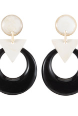Vivo Buffalo Horn Geometric Drop Earring