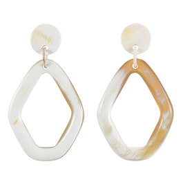 Vivo Buffalo Horn Diamond Hoop