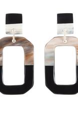 Vivo Buffalo Horn Octagon Earring