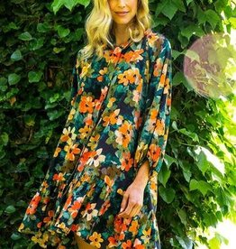 tyler boe Silk Autumn Floral Dress