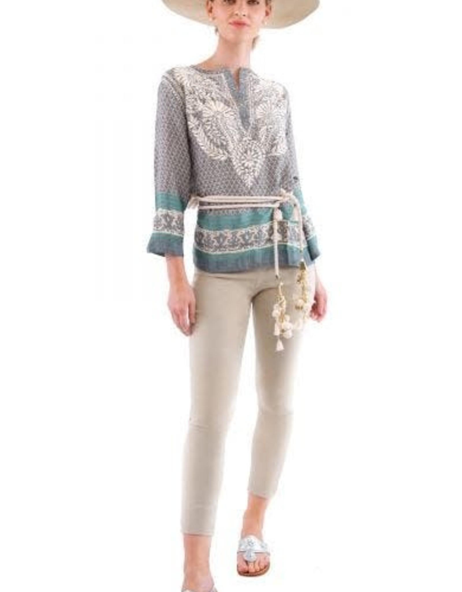 Gretchen Scott Silk Embroidered Tunic