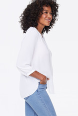 NYDJ Pin Tuck Blouse