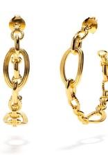 Capucine de Wulf Monique Chain Gold Hoop Earring