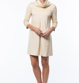 tyler boe Faux Suede Kim Cowl Dress