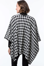 tyler boe Cotton Cashmere Houndstooth Wrap