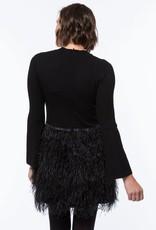 tyler boe Monique Feather Dress