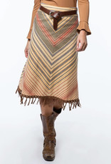 tyler boe Serape Fringe Skirt