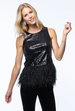 tyler boe Sequin Feather Top
