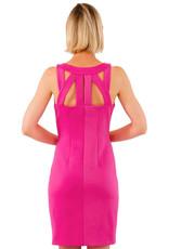Gretchen Scott Solid Jersey Isosceles Dress