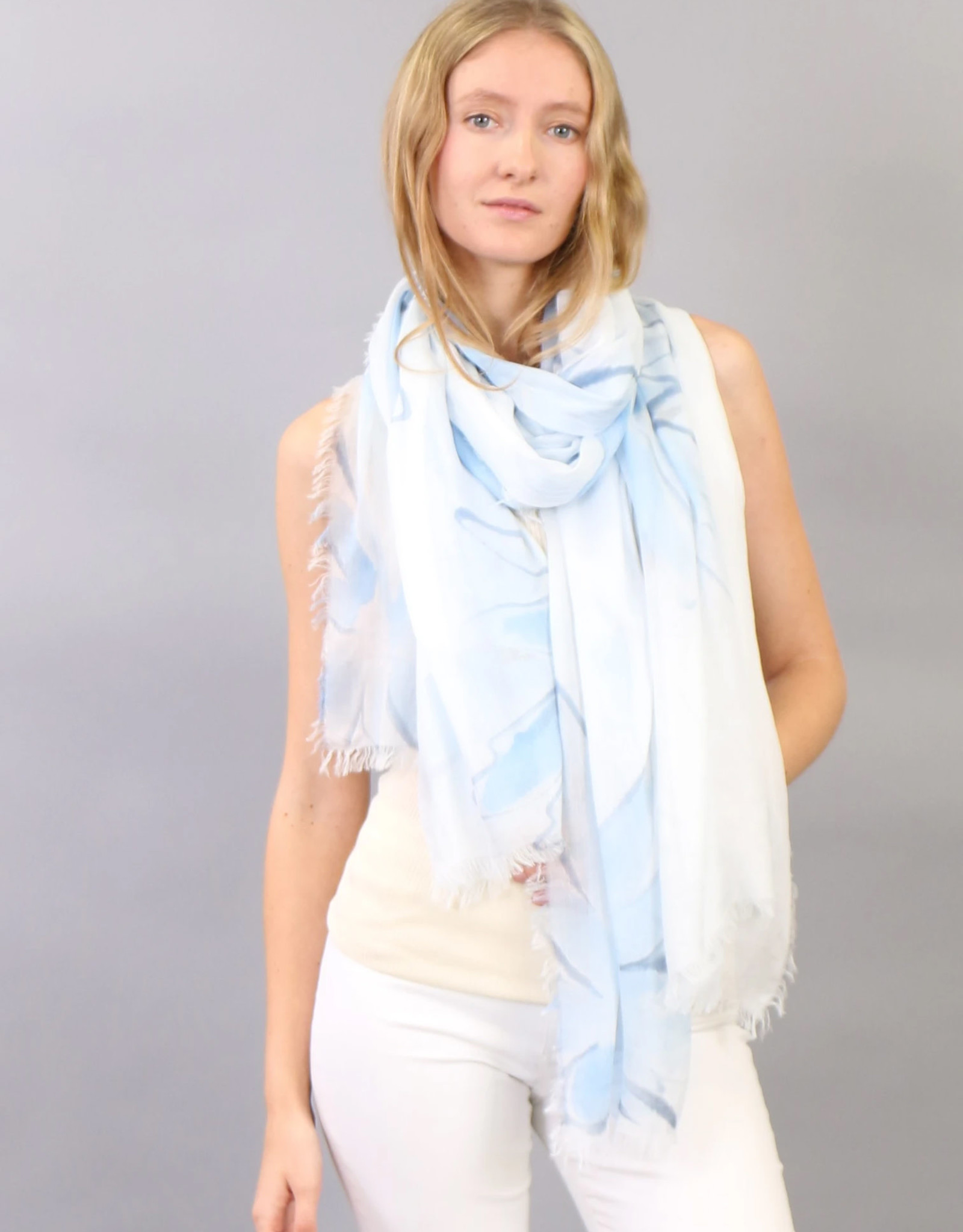 Zoe Couture Hand Painted Daisy Scarf