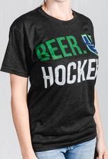 108 Stitches Beer Hockey Black T-Shirt w/ U Logo