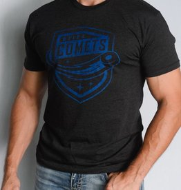 Sportiqe Black Comfy T-Shirt w/ Comets Shield Logo
