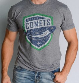 108 Stitches Spelled Out Grey T-Shirt w/ Comets Shield Logo