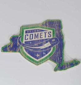 Wincraft Comets State Shaped Wooden Sign
