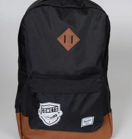 Herschel Heritage Black Backpack w/ Comets Shield