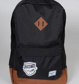 Herschel Heritage Black Backpack w/ Comets Shield
