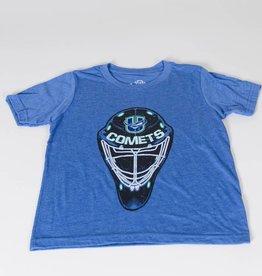 108 Stitches Youth Goalie Mask Black T-Shirt w/ U Logo