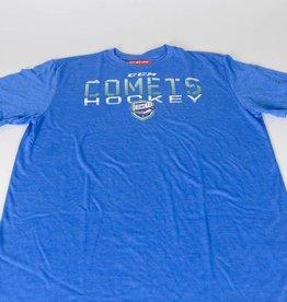Blue CCM Tri-Blend Comets Shield T-Shirt