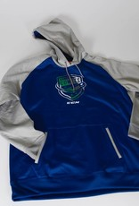 CCM Blue/Grey Women's Pullover Hoodie w/ Comets Shield