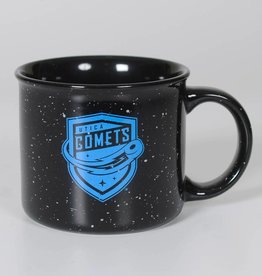 Ceramic Campfire Mug Black w/ Comets Shield