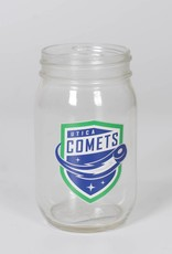 Glass Mason Jar w/ Comets Shield