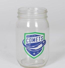 Glass Mason Jar w/ Comets Shield