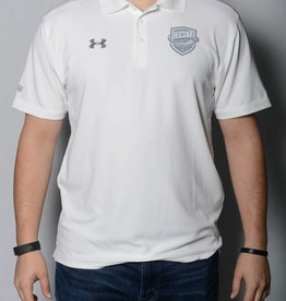 White Under Armour Comets Polo w/ Grey Shield Logo