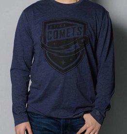 New Era Men's Navy Blue Long Sleeve T-Shirt w/ Comets Shield