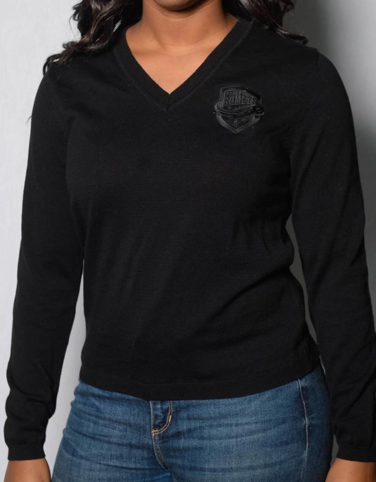 Women's Black Knit Sweater w/ Comets Shield