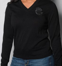 Women's Black Knit Sweater w/ Comets Shield