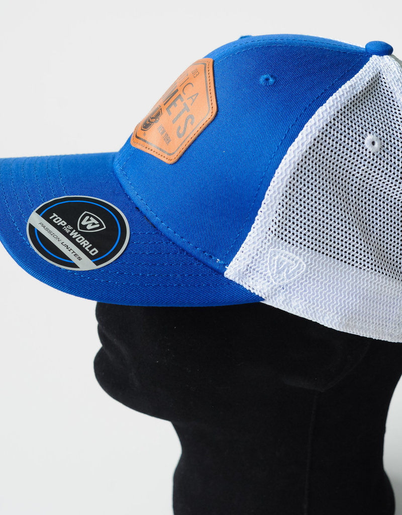 Top of the World Edge Hat - Blue w/ Comets U