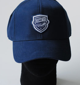 Sportiqe Adjustable Navy Blue Hat w/ White Outlined Comets Shield