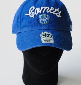 47 Brand Women's Adjustable Blue Script Hat w/ U Logo